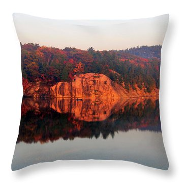 Sunrise And Harmony Throw Pillow by Debbie Oppermann