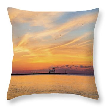 Throw Pillow featuring the photograph Sunrise And Splendor by Bill Pevlor
