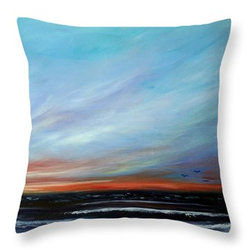 Sunrise And The Morning Star Eastern Shore Throw Pillow