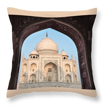 Sunrise Arches Of The Taj Mahal Throw Pillow
