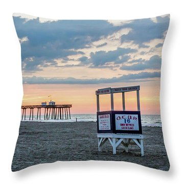 Sunrise At 16th Street Ocean City New Jersey Throw Pillow