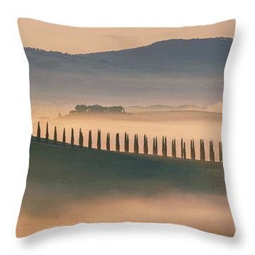 Throw Pillows Magnolia : Sunrise At Agriturismo Poggio Covili Photograph by Henk Meijer Photography