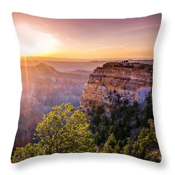 Sunrise At Angel's Window Grand Canyon Throw Pillow