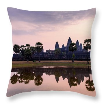 Sunrise At Angkor Wat Throw Pillow
