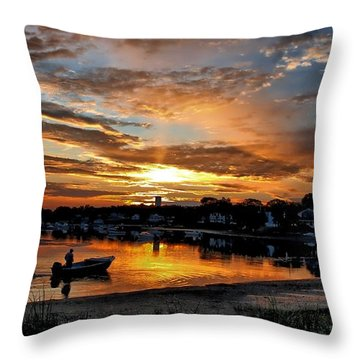 Sunrise At Back Cove Throw Pillow