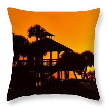 Throw Pillow featuring the photograph Sunrise At Barefoot Park by Don Durfee