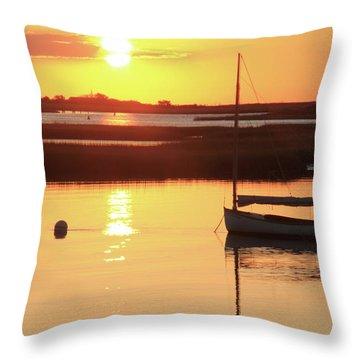 Sunrise At Bass River Throw Pillow