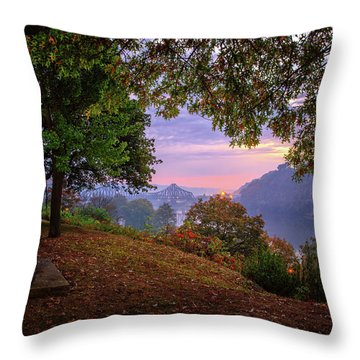 Sunrise At River Rd  Throw Pillow