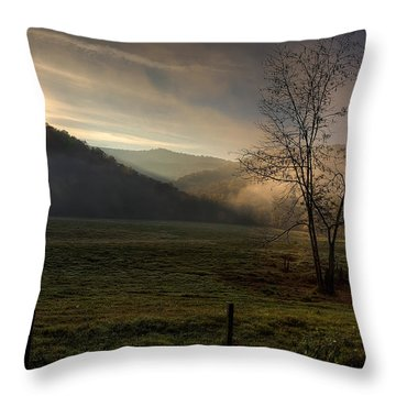 Throw Pillow featuring the photograph Sunrise At Big Hollow by Michael Dougherty