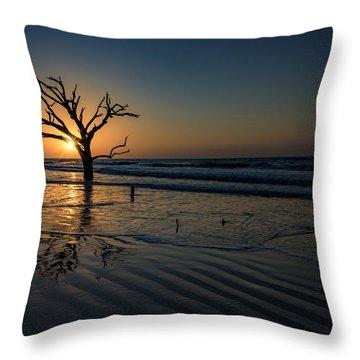 Sunrise At Botany Bay Throw Pillow
