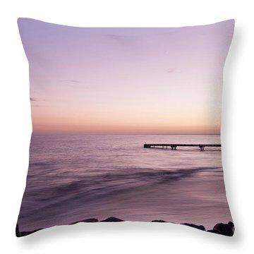 Throw Pillow featuring the photograph Sunrise At Busselton by Ivy Ho