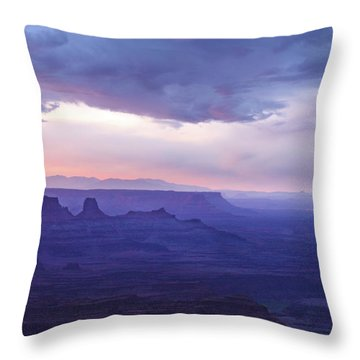 Throw Pillow featuring the photograph Sunrise At Canyonlands by Marie Leslie