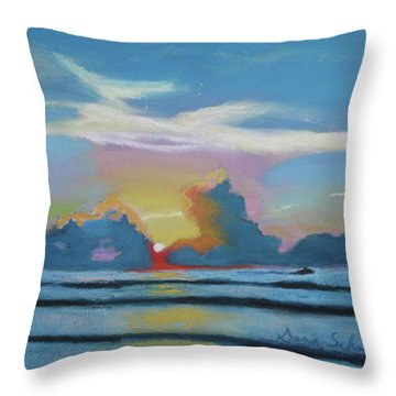 Sunrise At Cape Canaveral Beach Throw Pillow