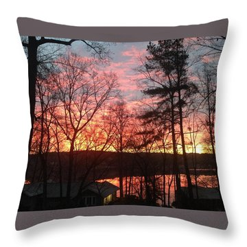 Sunrise At Carolina Trace Throw Pillow