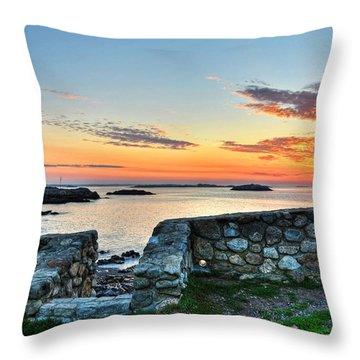 Sunrise At Castle Rock Marblehead Ma Throw Pillow