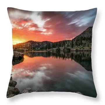 Sunrise At Cecret Lake Throw Pillow