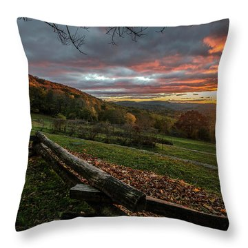 Sunrise At Cone House Throw Pillow