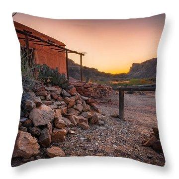 Sunrise At Contrabando Throw Pillow by Allen Biedrzycki