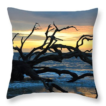 Sunrise At Driftwood Beach 1.1 Throw Pillow by Bruce Gourley