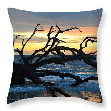 Sunrise At Driftwood Beach 1.1 Throw Pillow