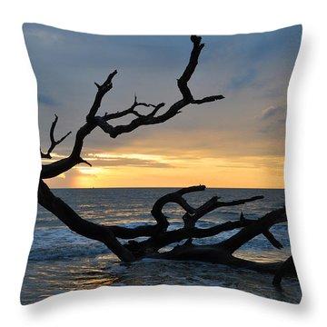 Sunrise At Driftwood Beach 1.2 Throw Pillow