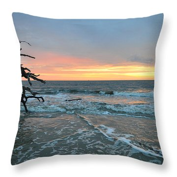 Sunrise At Driftwood Beach 1.3 Throw Pillow by Bruce Gourley