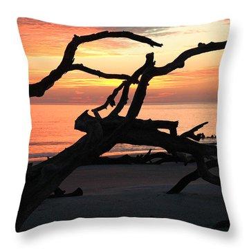 Sunrise At Driftwood Beach 3.1 Throw Pillow