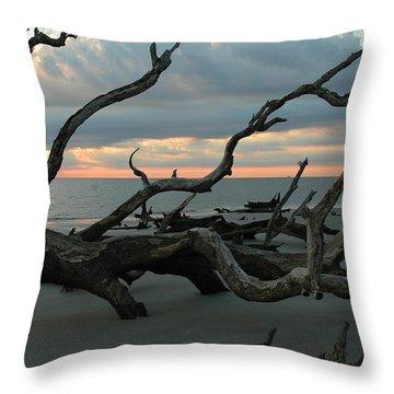 Sunrise At Driftwood Beach 4.1 Throw Pillow