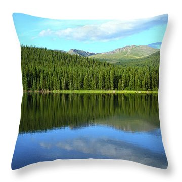 Throw Pillow featuring the photograph Sunrise At Echo Lake by Marie Leslie
