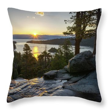 Sunrise At Emerald Bay In Lake Tahoe Throw Pillow