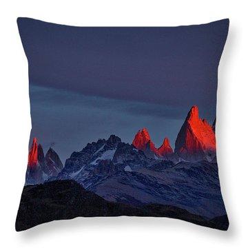 Sunrise At Fitz Roy #2 - Patagonia Throw Pillow