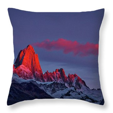 Sunrise At Fitz Roy #3 - Patagonia Throw Pillow