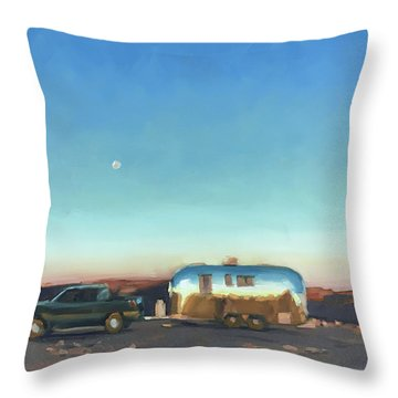 Sunrise At Gooseneck Canyon. Throw Pillow