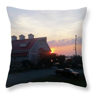 Sunrise At Hooper's Crab House Throw Pillow by Robert Banach