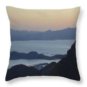 Sunrise At Hoover Dam Throw Pillow