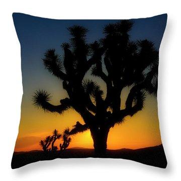 Sunrise At Joshua Throw Pillow