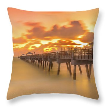 Sunrise At Juno Beach Throw Pillow