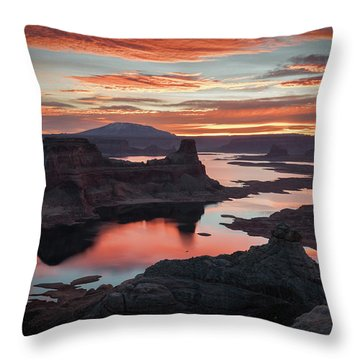 Sunrise At Lake Powell Throw Pillow