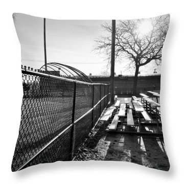 Sunrise At Lions Field Throw Pillow