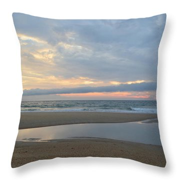 Throw Pillow featuring the photograph Sunrise At Loggerhead by Barbara Ann Bell