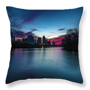 Sunrise At Lou Neff Point Throw Pillow