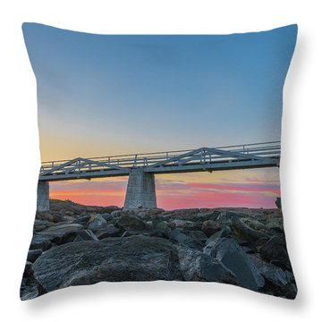 Sunrise At Marshall Point Throw Pillow
