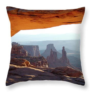 Sunrise At Mesa Arch Throw Pillow