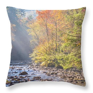 Sunrise At Metcalf Bottoms Throw Pillow