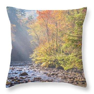 Sunrise At Metcalf Bottoms Throw Pillow