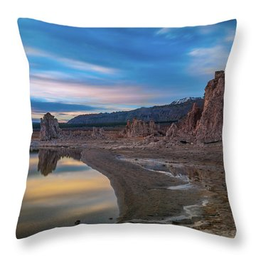 Sunrise At Mono Lake Throw Pillow