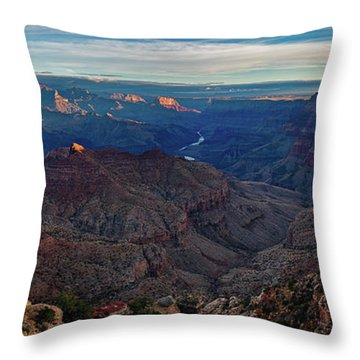 Sunrise At Navajo Point Throw Pillow