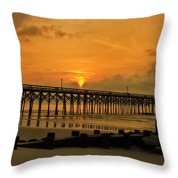 Sunrise At Pawleys Island Throw Pillow by Bill Barber