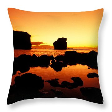 Sunrise At Puu Pehe Throw Pillow by Ron Dahlquist - Printscapes