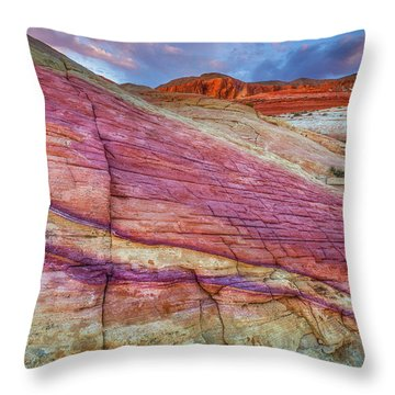 Throw Pillow featuring the photograph Sunrise At Rainbow Rock by Darren White